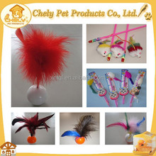Cheap Funny Play Cat Toy Pet Accessory Cat Teaser Feather Wand For Exercise Pet Toys