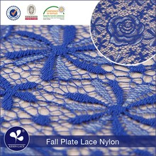 N287 wholesale guipure fall plate rose galloon indian deep royal blue lace fabric