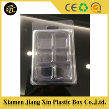 6 cavity plastic clamshell mold for wax melts