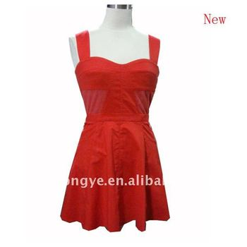 Ladies' dress sleeveless sweetheart red short ladies dresses
