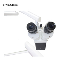 CE approval Guangzhou Lingchen portable led dentist use dental microscope prices