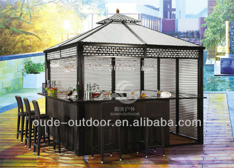luxury outdoor bar gazebo