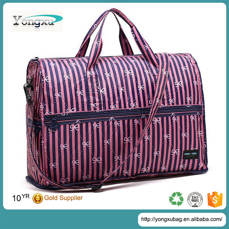 china manufacturer custom folding polyester luggage travel bag for women