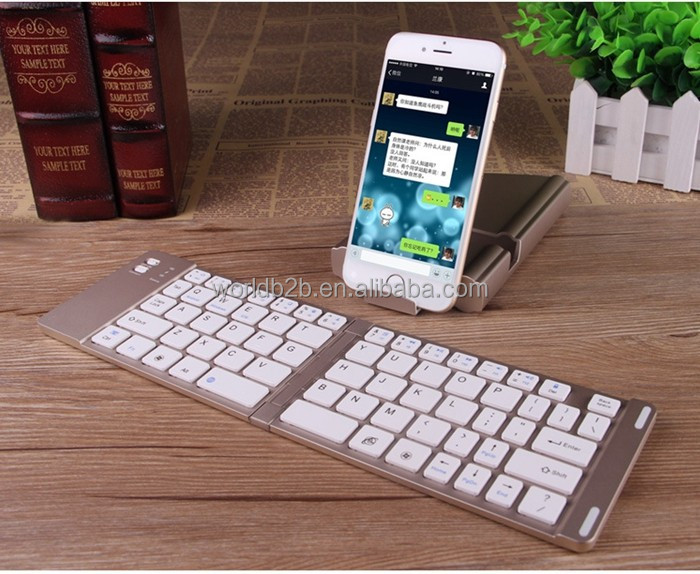2 in 1 Ultra-slim Wireless Foldable Bluetooth Keyboard For iOS/Android/Windows,Keyboard Cover Can be Stand for Tablet and Phone