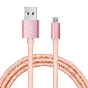Nylon Braided Aluminum Plug phone charger USB Cable for iPhone