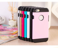 Slim hard PC TPU hybrid shockproof mobile phone cover armor case for iPhone6 / 6s / 6s plus