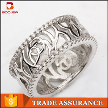 Noble design artificial diamond rings wholesale antique design 925 sterling silver ring