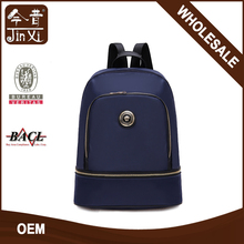 Wholesale Custom metal logo Travelling nylon mochilas escolares backpack