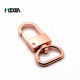 Fashion bag purse decorative rose gold metal alloy d ring snap hook swivel snap hook for bag