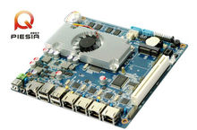 x86 single board computer 4 lan board Fanless 4 Gigabit Ethernet motherboard for Router,Network Security,Server