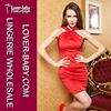 Women's 2015 Lastest Design Fashion Sexy Style Sleeveless Red Bodycon Dress Club Party Wear Short Bodycon Dress