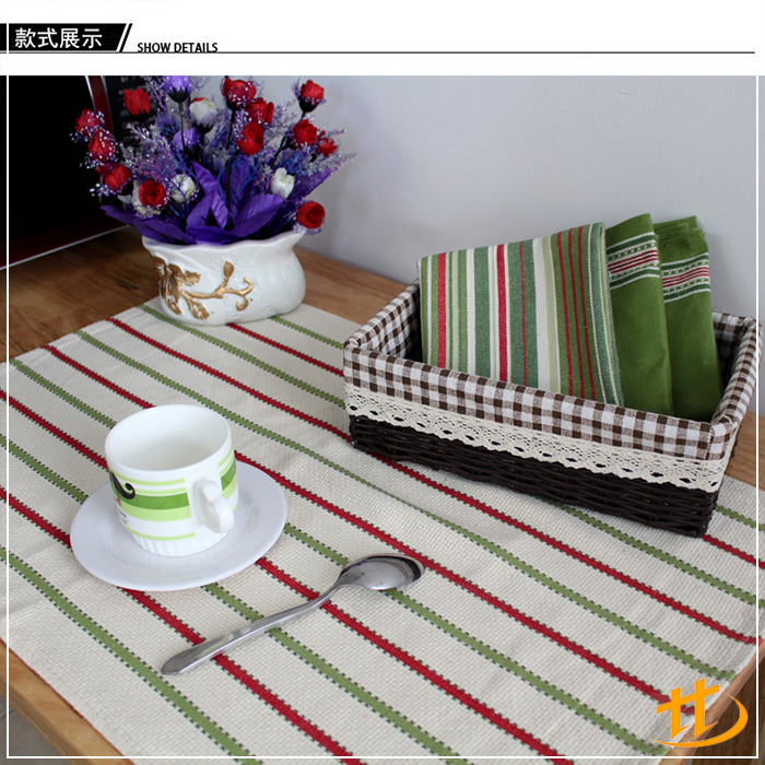 High Quality Stylish Colorful Cotton Stripe Customized Design Pattern Soft Tea Towel