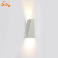 black and white outdoor waterproof trapezoidal led wall light