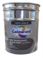SILVER PAINT - HEAT RESISTANCE UP TO 300'C