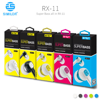 SIMILOR 3.5 mm phone connector soft buds headphone with logo design service