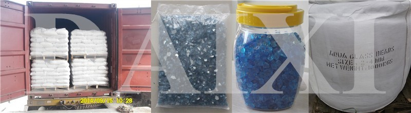 Recycled Colored Scrap Glass Cullets