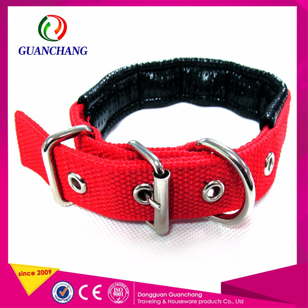 Training Dog Copper Buckle Logo Printed Dog Pet Id Band Collars