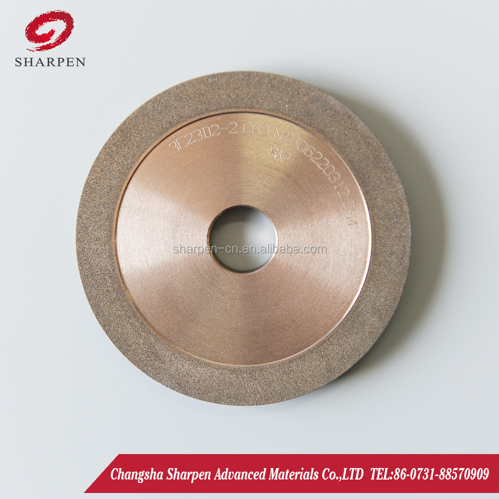 Hybrid bond diamond grinding wheel for deep fluting of end mills and drills quality similar to WINTER wheel