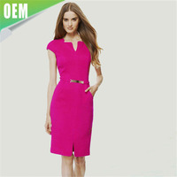 Summer ladies fashion clothes Career wear designer office Dresses