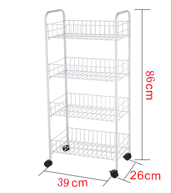 Metal Kitchen serving trolley cart , kitchen mesh vegetable&fruit& &caddy organizer shelf rack,4-tier slim rolling cart