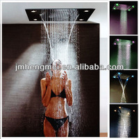 hot/cold fancy color change surface mounted square shower faucet