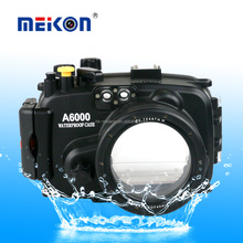 Meikon Lately 40M/130FT underwater camera housing case diving kit waterproof housing bag for sony A6000