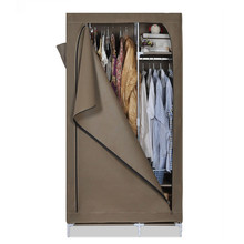 New covered single canvas wardrobe portable clothes closet modern cabinet