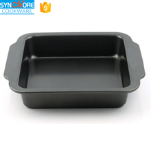8 inch 9inch 0.6MM Carbon Steel Square Bakeware,Tray Baking, Cake Pan with Silicone Handle