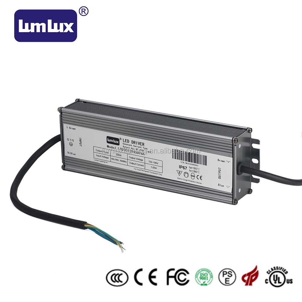 200W waterproof IP67 switching led driver