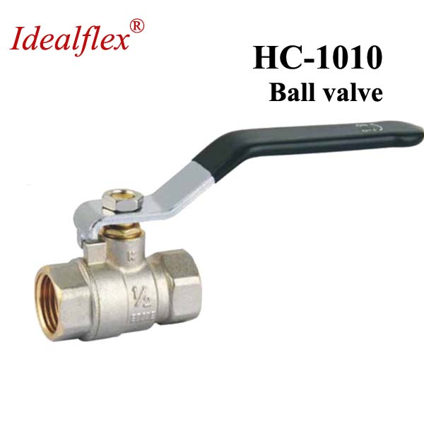 Nickel plated Brass female 1/2 3/4 1 inch manual power forged brass ball valve taizhou supplier