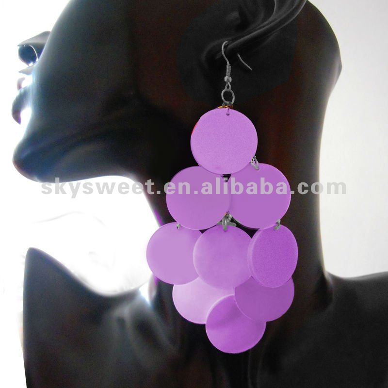 2013 Product Fashion Earrings,Acrylic Earring Chins Suppliers(SWTERBC438)