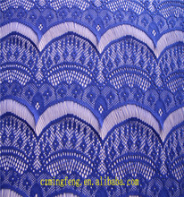 2017 Jaquard 100% Polyester Cheap Royal Blue Willow Fabric