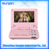 New Design 7 inch Kids Portable DVD Player, Single Screen Rechargeable Portable DVD Player