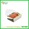High quality fast food paper box for sales lunch paper box