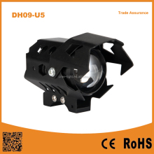 12-80V 10W U9 LED Transformer Autobicycle Headlight lamp with Angel Halo Eye ring