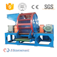 2018 Most Advanced Technology Waste Rubber Tyre Recycling Machine Double Shaft Shredder for Used Tire