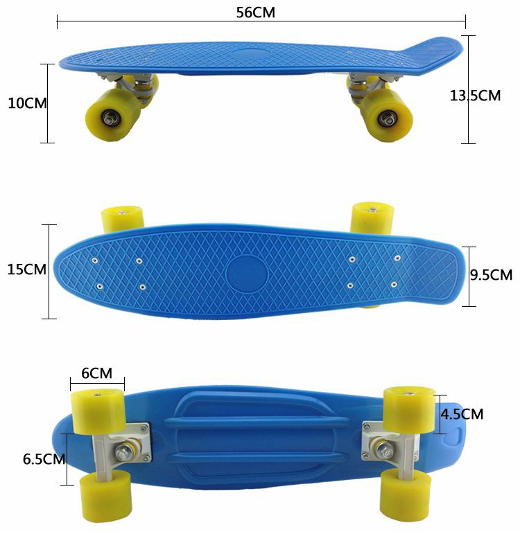 2017 best selling fish style skate board kick skateboard