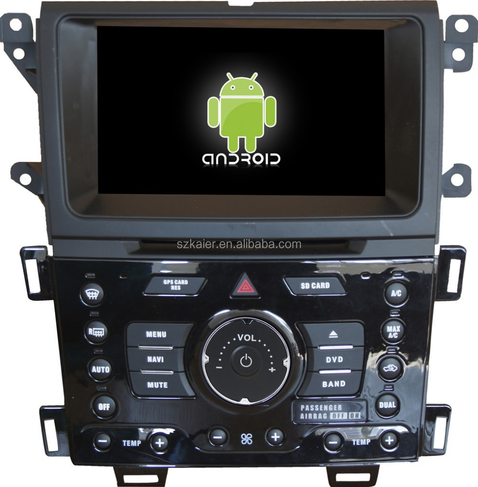 Android 4.4 Mirror-link TPMS DVR car dvd player for Ford EDGE with GPS/Bluetooth/TV/3G