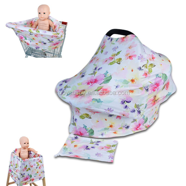 Popular nursing cover Multi-Use Stretchy 3 in 1 baby car seat canopy