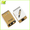 2014 China promotion recycled journal recycled Kraft Paper cover notebook with pen
