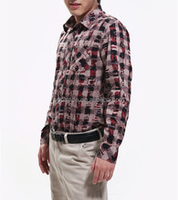 Latest shirts for men pictures long sleeve blouse tops slim fit shirt plaid cotton men shirts