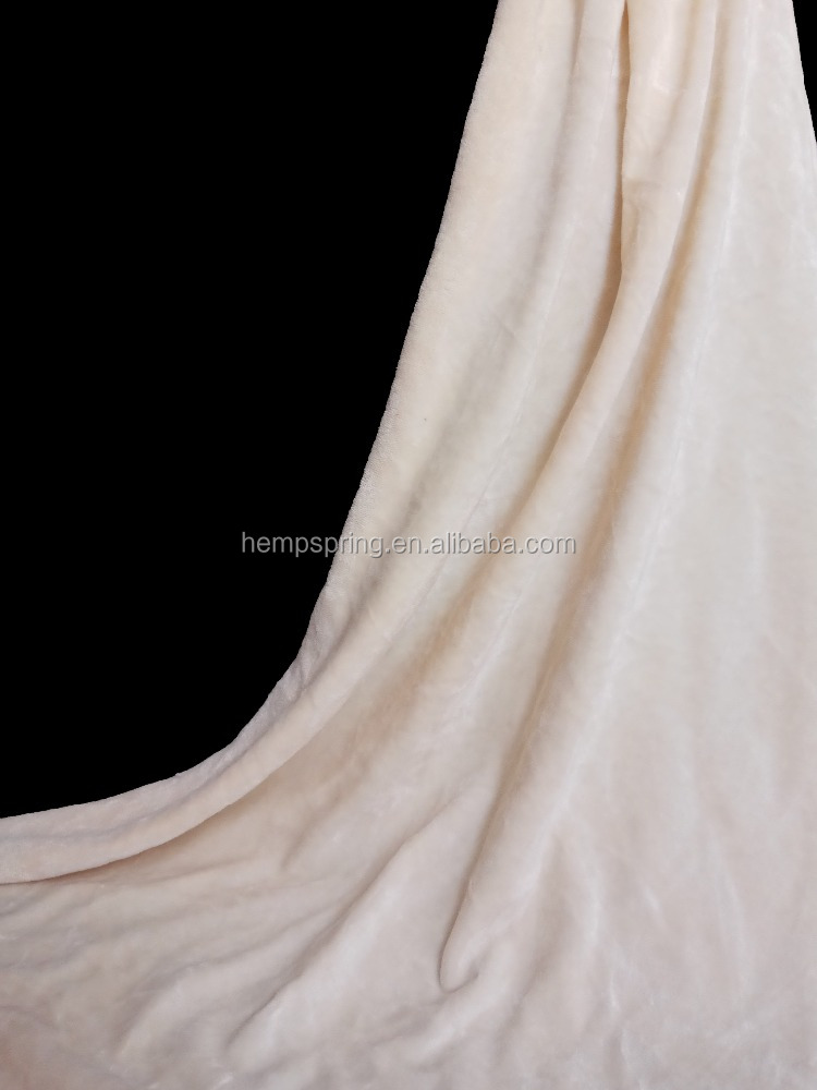 Bamboo cotton polyester velvet fabric for clothing