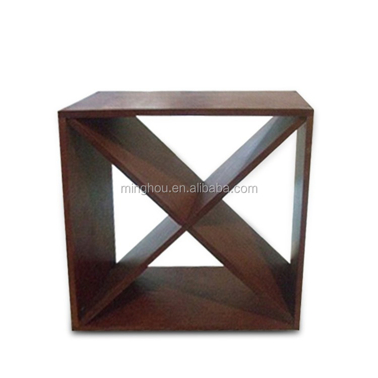 Factory Direct Wholesale Modular 24 Bottle Wood Wine Cubes
