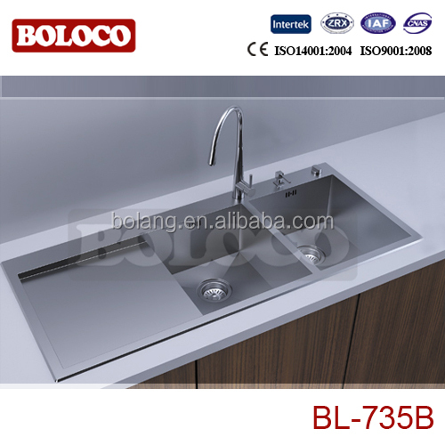 304# (18/8)Stainless steel hand made Kitchen sink BL-735B