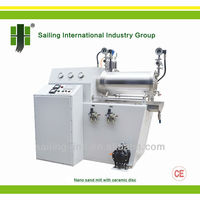 WTZr Nano Sand Mill Grinder with Ceramic Disk for Battery, Mineral pigment, Rare-earth Materials and Cosmetics Industry