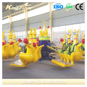 jumping kangaroo electric amusement park equipment for kiddie