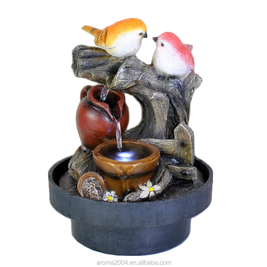statue indoor water fountain bird home decorative products