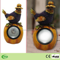 Polyresin pumpkin crafts bird solar light