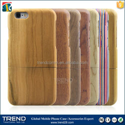 Lower price hot free sample cell phone wood case for iphone 6