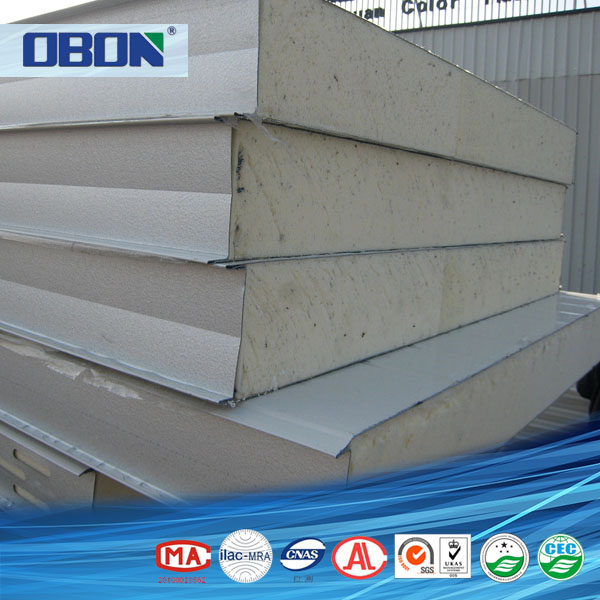 OBON polyurethane foam pu sandwich panel for wall and roof